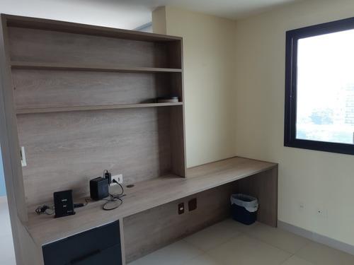2 qtos com home office em condomínio completo luxo
