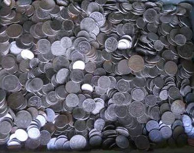2 quilos de moedas cruzeiros e cruzados