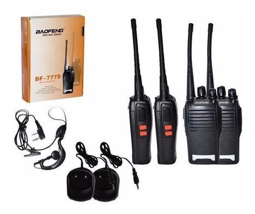 2 radio comunicador baofeng walk talk bf777s 16 ch ptt fone
