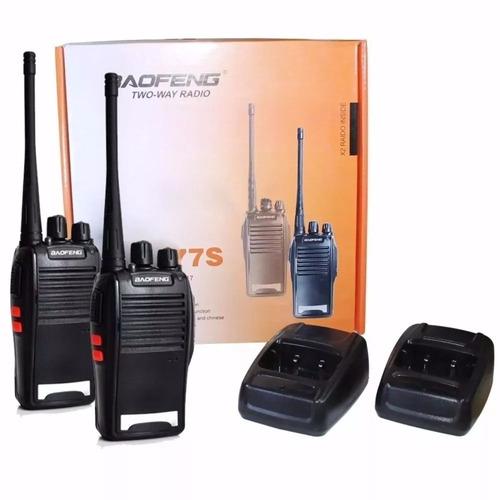 2 radio comunicador walk talk baofeng 777s alcance 4km fone