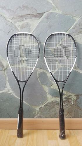 2 raquetas squash principiantes y juego de pelotas