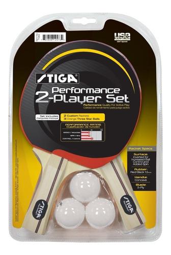 2 raquetas stiga pack de ping pong - tenis de mesa