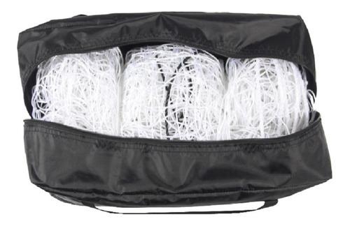 2 redes arco futbol 11 profesional trapezoidal 3mm con bolso