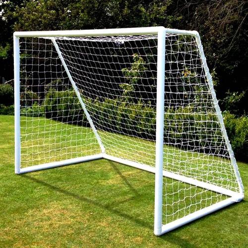 2 redes arco papi futbol futsal 3x2.m cuerda reforzada 2.8mm - resisten agua y sol - hay stock