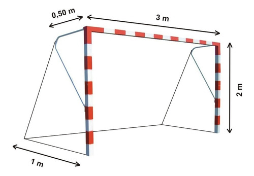 2 redes arco papi futbol salon chico 3 x 2 m polietileno 2,3 - red resiste intemperie - hay stock