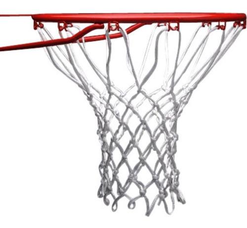 2 redes basquet basket reglamentaria reforzada uso intensivo - resiste sol y lluvia - reglamentaria - 12 enganches