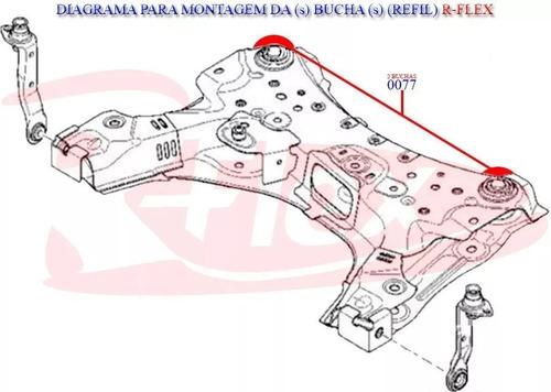 2 refil traseira quadro agregado livina tiida megane