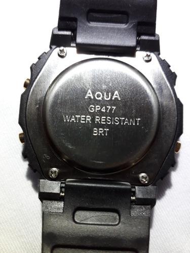 2 relógio aqua gp 477 wr200m prova d'água barato *promoção*