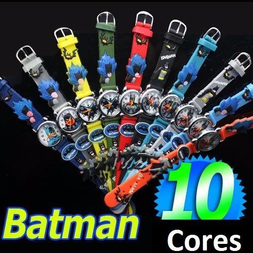 2 relógio infantil batman robin homem aranha promoção barato