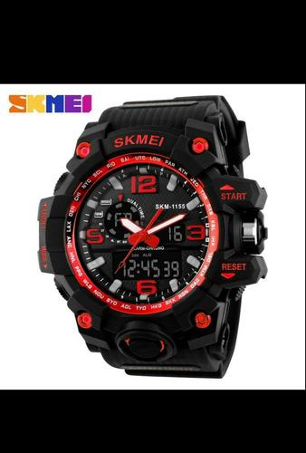 2 relógios skmei 1155 s-shock tático a prova d`água promoção