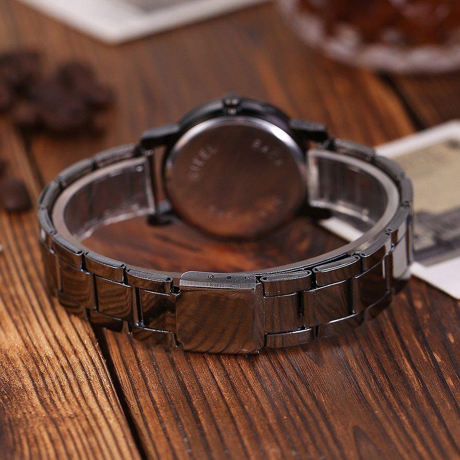 4de74afe1055 2 relojes pareja hombre mujer duo conjunto acero inoxidable. Cargando zoom.