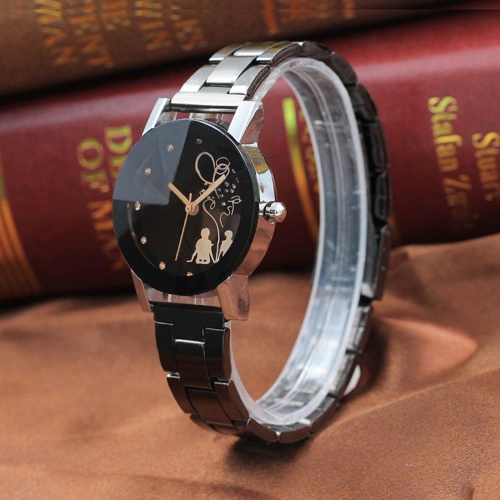 6e9ffc1e39da 2 relojes pareja novios hombre mujer duo conjunto acero inox. Cargando zoom.