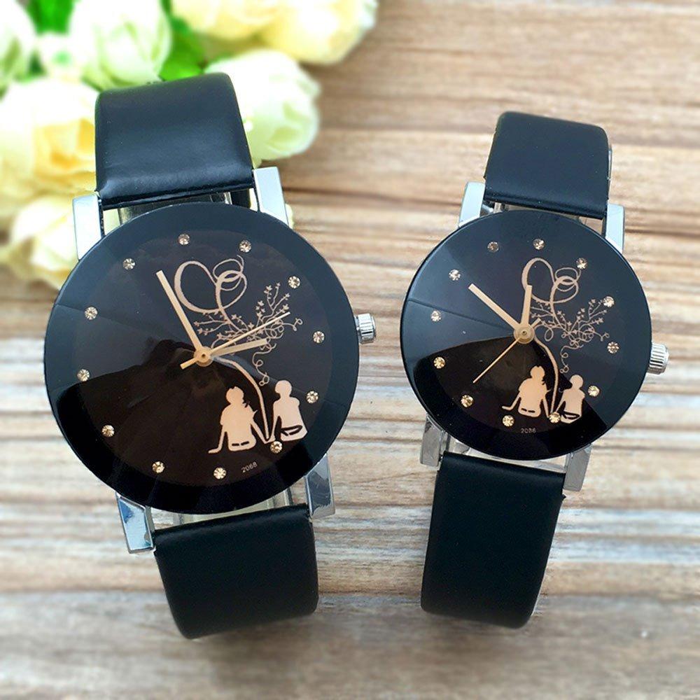 8d17c33fc297 2 Relojes Pareja Novios Hombre Mujer Duo Conjunto Cuero -   349.00 ...