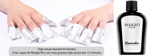 2 removerdores de esmalte semipermanente masglo plus