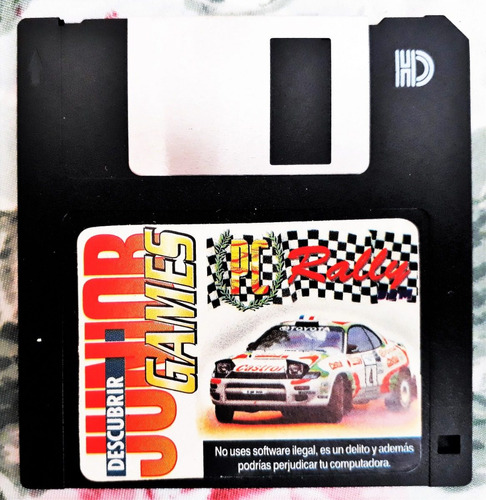 2 retro diskettes juegos para pc futbol 95 y rally