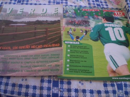 2 revistas de santiago wanderers   verde año 1999(706