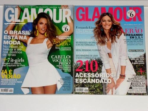 2 revistas glamour otimo estado