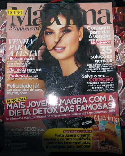 2 revistas isis valverde máxima 25 sou mais eu 2012 receitas