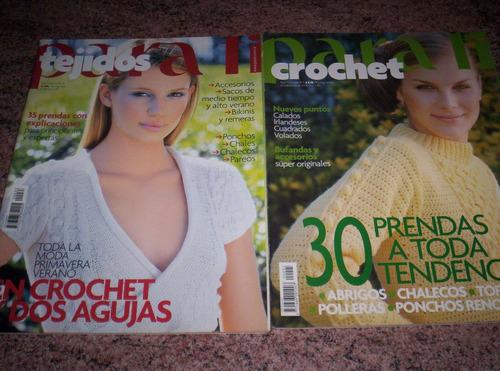 2 revistas para tí crochet y 2 agujas. más de 60 prendas!