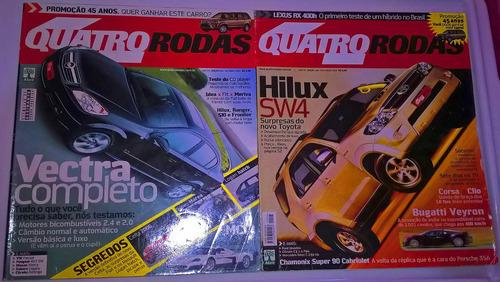 2 revistas quatro rodas outubro/2005 & novembro/2005