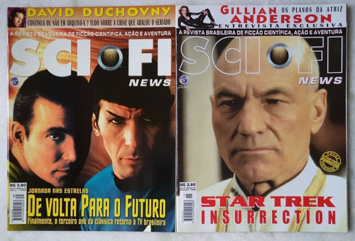 2 revistas star trek-sci fi ed.8\15-otimo estado