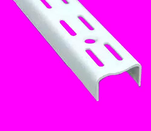 2 riel de 1 m + 6 ménsula 27 cm - para estantería reforzada