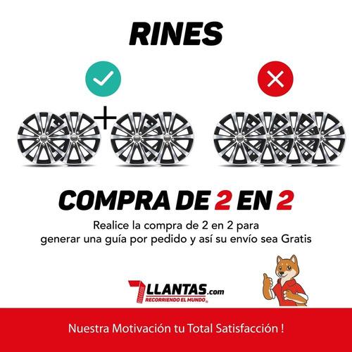 2 rines deportivos 17 4/100-114 carro santino ford vw nissan