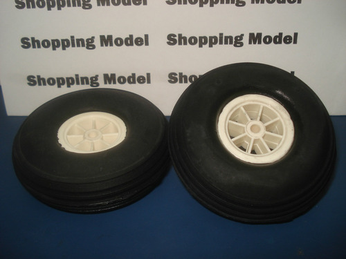 2 roda aeromodelo de  borracha 3  pol shopping model