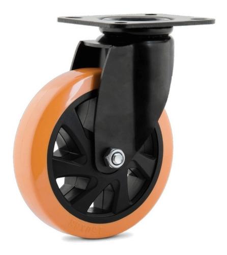 2 roda giratória 6 pol.x 38 mm c/placa s/freio carga 200 kg