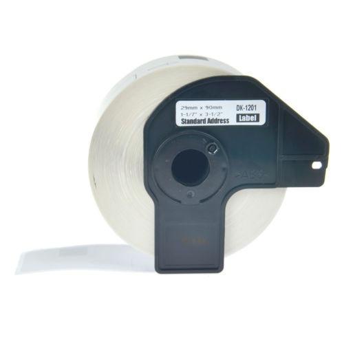2 rollo de etiqueta de dirección blanco dk1201 para w/cartuc