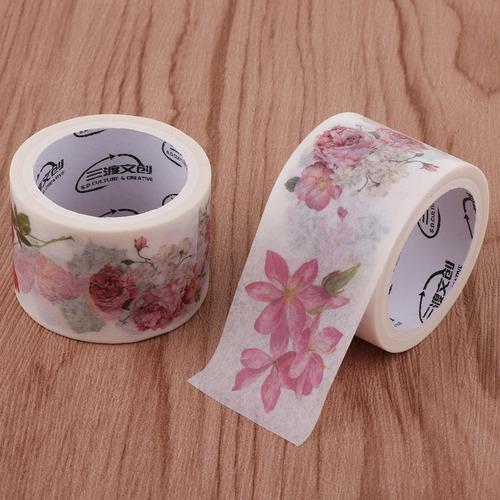 2 rollos cinta decorativa adhesiva artesanía de bricolaje