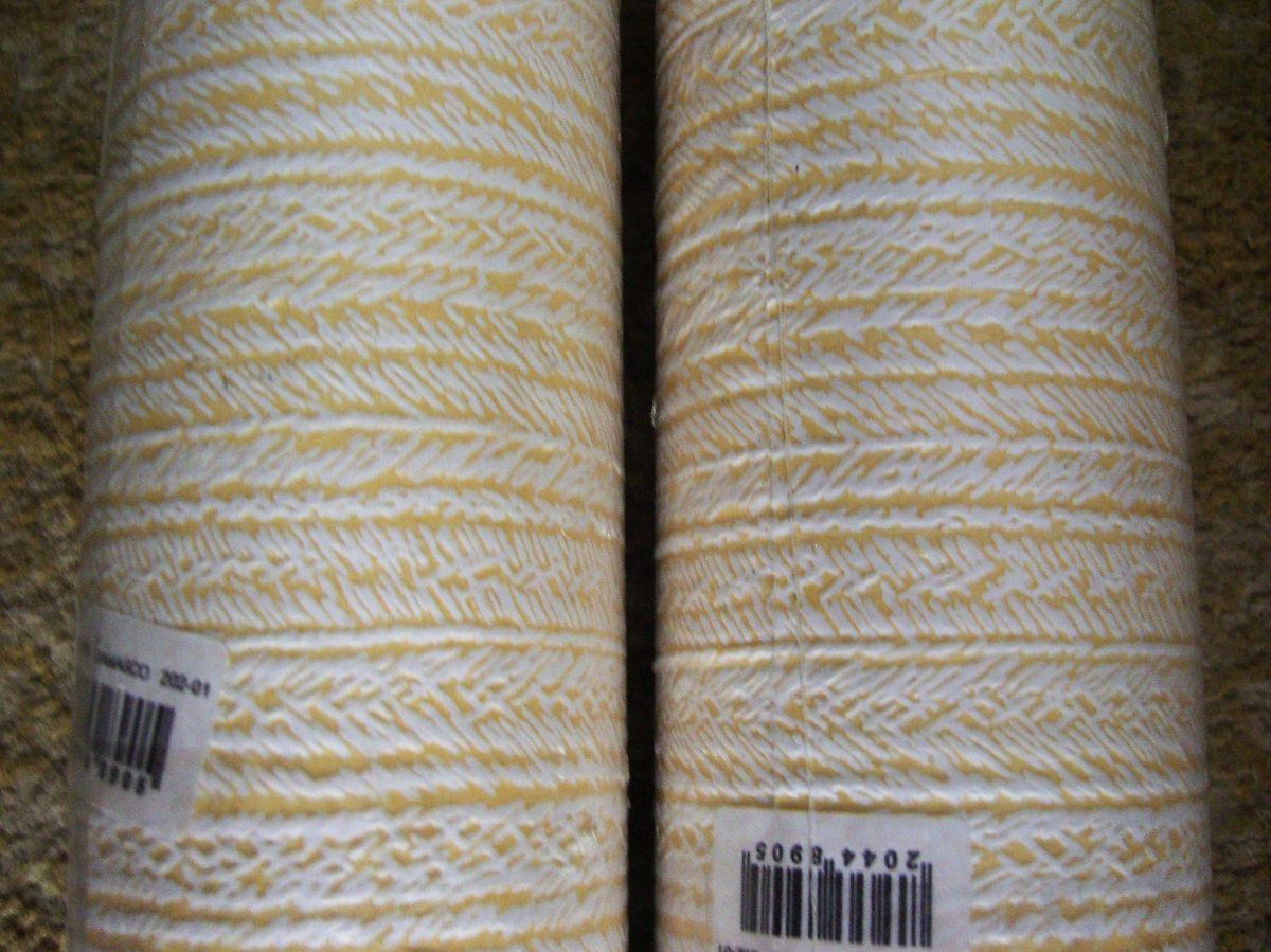 2 rollos de hermoso papel mural blanco damasco for Donde venden papel mural