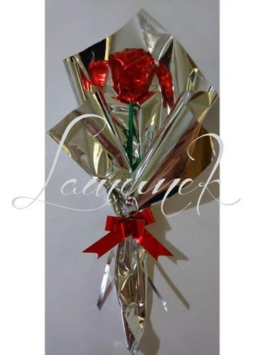 2 rosas chocolate rellena souvenir regalo día del amigo