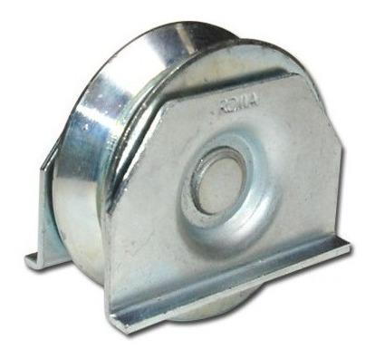 2 ruedas acero porton corredizo v 60 mm c/ soporte h tuyu