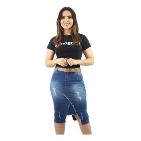 2 Saias Jeans Evangélicas Nova Coleção Escolha Seus Modelos