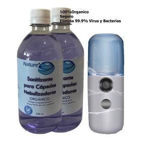 2 Sanitizante Para Capsulas Nano Difusor Humidificador 500ml