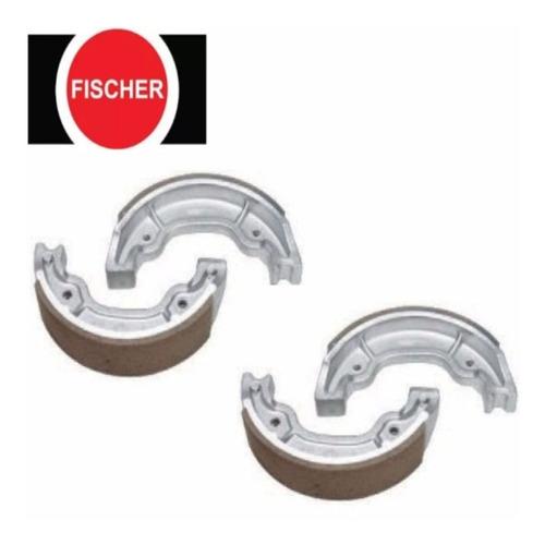2 sapata lona de freio fan 150 esi à tambor fischer pv0200