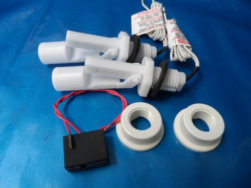 2 sensores nível de água original icos c/ adpt pvc filtro k8