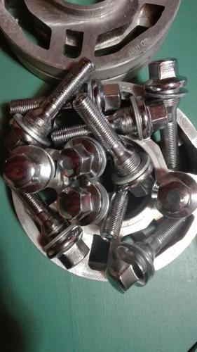 2 separadores de 20mm + 8 bulones largos para peugeot  rr