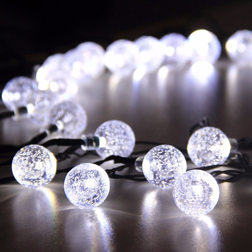 2 series de luces led solar de 6 mts 30 leds envio gratis!