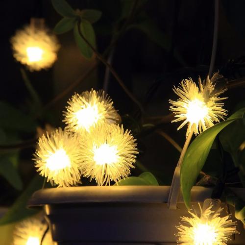2 series de luces led solar de 8 mts 50 leds