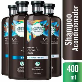 2 Shampoo Herbal Essences Coconut Milk + 2 Acondicionadores
