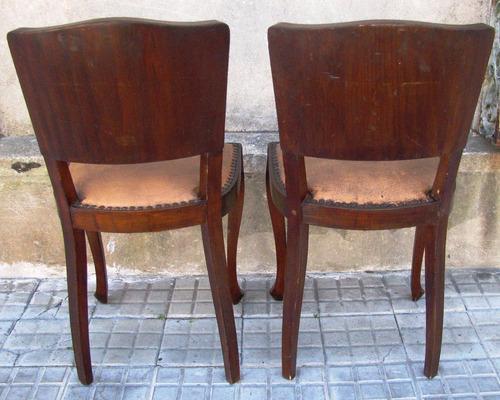 2 sillas antiguas de dormitorio estilo frances for Sillas de dormitorio