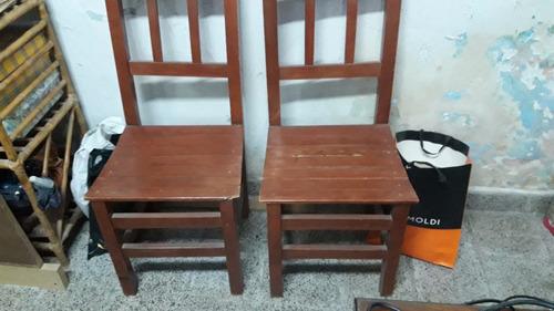 2 sillas de madera de roble
