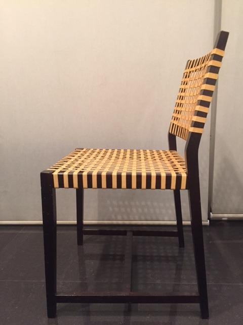 2 sillas en madera y vaqueta originales en oferta for Oferta sillas madera