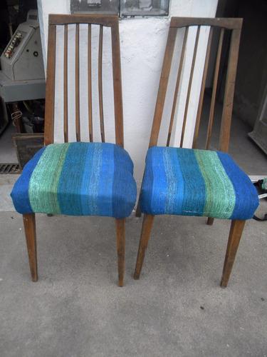 2 sillas estilo escandinavo  a restaurar $ 450 encolar