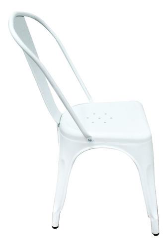 2 sillas tolix reforzada blanca mate con envio 6 cuotas