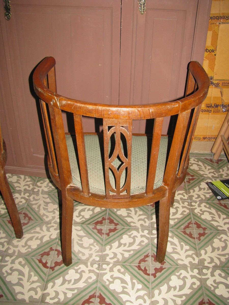 2 sillones antiguos de roble 1 2 punto en - Sillones y punto ...