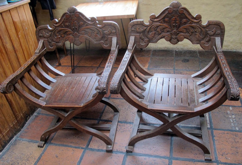 2 sillones antiguos de roble!!! impecables!! un regalo!!