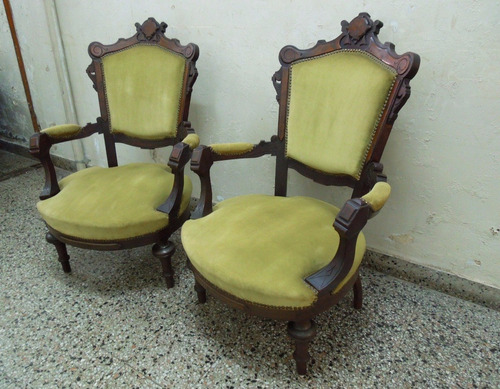 2 sillones coloniales ingleses comedor poltrona living sala